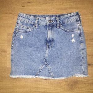 Jean mini skirt